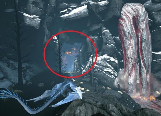 天帝のアーティファクトの洞窟入口