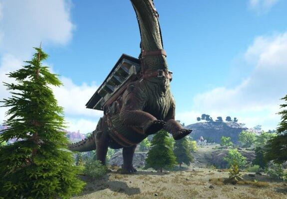 ティタノサウルスの通常攻撃