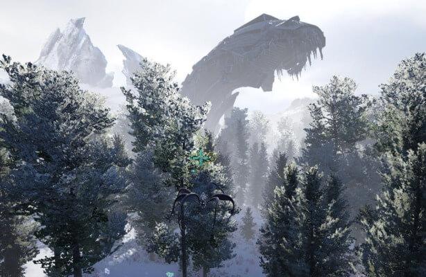 雪山エリア