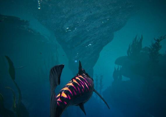 深海エリアの渦潮
