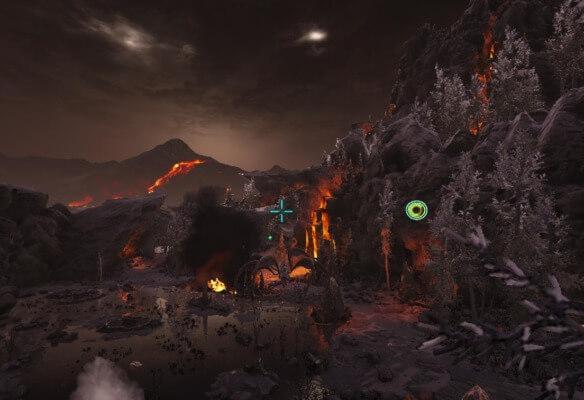 火山エリア