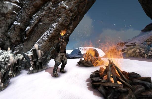 火を使って防寒対策