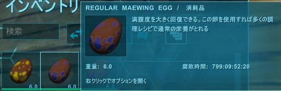 メイウイングが産んだ卵